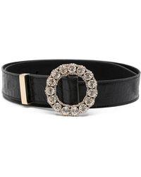 Erdem Crystal Embellished Belt - Black