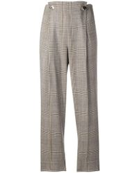 Incotex - Checked Button Trousers - Lyst