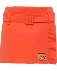 Prada Klassicher Minirock - Orange