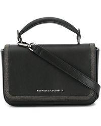 Brunello Cucinelli Сумка-тоут С Логотипом И Верхней Ручкой - Черный