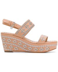 Tory Burch - Woven Slingback Wedge Sandals - Lyst