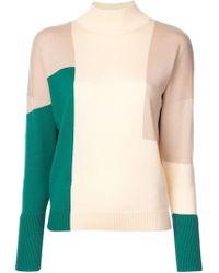Delpozo - Colour Block Sweater - Lyst
