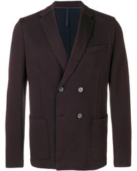 Harris Wharf London Double Breasted Blazer - Bruin
