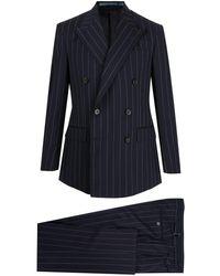 Polo Ralph Lauren ストライプ ダブルスーツ - ブルー