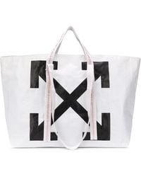 Off-White c/o Virgil Abloh Canvas Commercial Tote Bag Off White/black