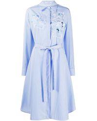 Vivetta ストライプ シャツドレス - ブルー