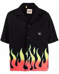 GALLERY DEPT. Parker Flame-print Silk Shirt - Black
