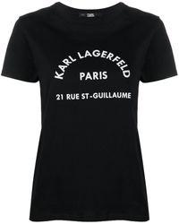 Karl Lagerfeld - Футболка Address С Логотипом - Lyst