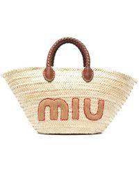 Miu Miu Bolso shopper tejido - Multicolor