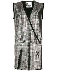 8pm - Sequinned Party Dress - Lyst
