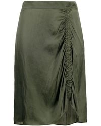 Zadig & Voltaire Jiji Ruched Skirt - Green