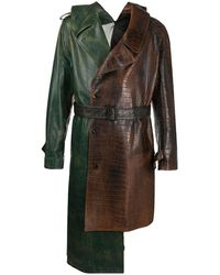 Marni Asymmetric Deconstructed Trench Coat - Green