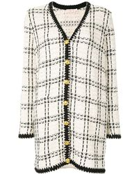 Tory Burch Kendra Tweed Cardi-coat - White
