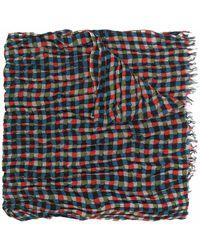 Yohji Yamamoto グラフィック スカーフ - レッド