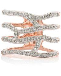 Monica Vinader Rp Riva Waterfall Cocktail Diamond Ring - Металлик