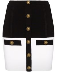 Balmain - バイカラー スカート - Lyst