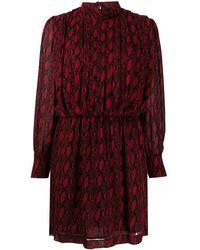 Department 5 スネークプリント ドレス - レッド