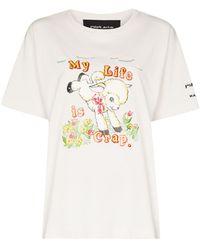 Marc Jacobs X Magda Archer t-shirt à imprimé graphique - Blanc