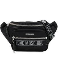 Love Moschino Marsupio con logo - Nero
