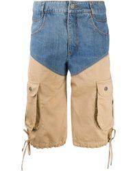 Telfar Pantalones vaqueros cortos tipo cargo - Azul