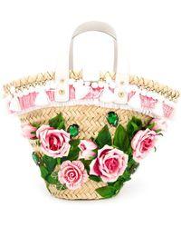 Dolce & Gabbana Bucket-tas Met Roos Applicatie - Meerkleurig