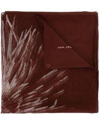 Hermès Платок Pre-owned С Цветочным Принтом - Красный