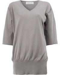 Lamberto Losani - Shortsleeved V-neck Pullover - Lyst