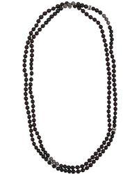 Tateossian - Mesh Bead Necklace - Lyst