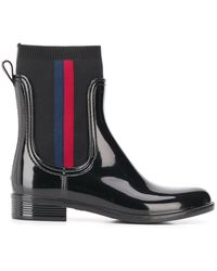 Tommy Hilfiger Gevoerde Regenlaarzen - Zwart