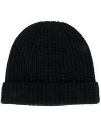 Alanui Ribbed-knit Cashmere Beanie - Black