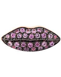 Delfina Delettrez - 'lips' Sapphire Earring - Lyst