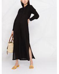 Nili Lotan サイドスリット シャツドレス - ブラック
