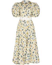 ANOUKI フローラル シャツドレス - ホワイト