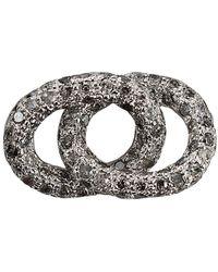 Carolina Bucci - 18kt White Gold Diamond Encrusted Bracelet Link - Lyst
