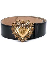Dolce & Gabbana - Devotion Buckle Belt - Lyst