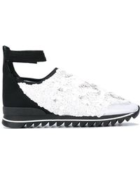 NO KA 'OI Embellished Ankle Strap Sneakers - White
