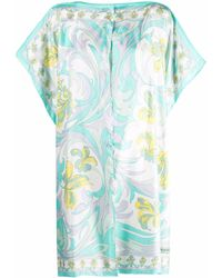 Emilio Pucci Abstract-print Silk Jacket - Blue