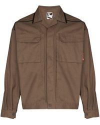 GR10K Klopman Land シャツジャケット - ブラウン