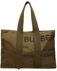 Burberry Horseferry プリント トートバッグ - グリーン