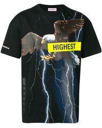 Palm Angels T-shirt Storm Eagle - Noir