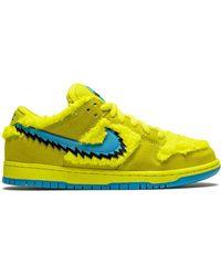 Nike X Grateful Dead Sb Dunk Low Sneakers - Yellow