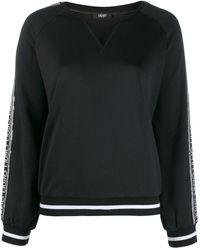 Liu Jo Sequin-embellished Logo Sweatshirt - Black