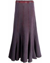 Y. Project Flared Midi Skirt - Purple