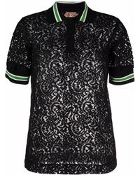 N°21 レース ポロシャツ - ブラック