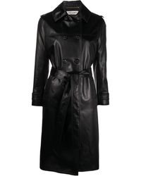 Saint Laurent Double-breasted Trench Coat - Black