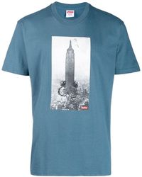 Supreme Mike Kelly Empire State Tシャツ - ブルー