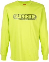 Supreme ロングtシャツ - グリーン
