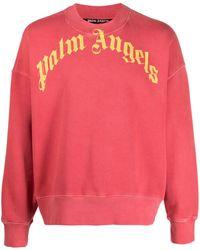 Palm Angels Толстовка Vintage Wash С Логотипом - Красный