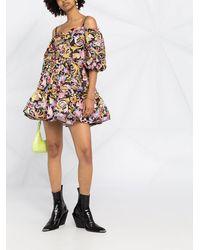 Versace Jeans Couture Платье С Принтом Versailles - Черный