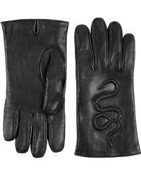 Gucci - Handschuhe mit Schlangen-Prägung - Lyst